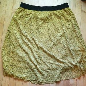 Beautiful mustard lola LuLaRoe skirt - XL